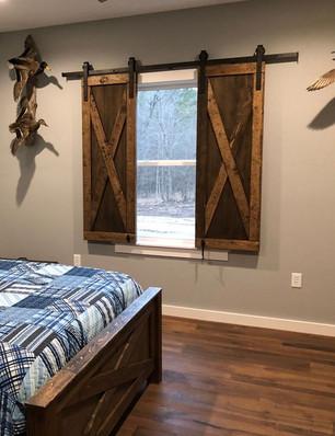 Barn Door Window Curtains