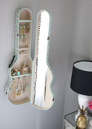 Acoustic Guitar Case Jewlery Case