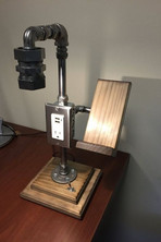 Industrial Light with Outlet USB and Phone Holder