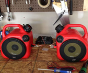 Gas Can Home Theater Speakers