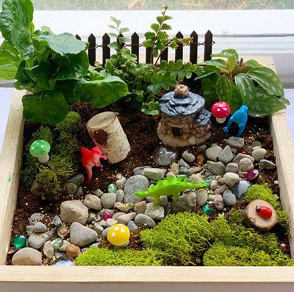 Dinosaur Play Land w/Plants