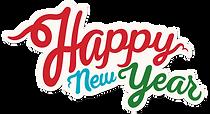 Gelukkig Nieuwjaar teken