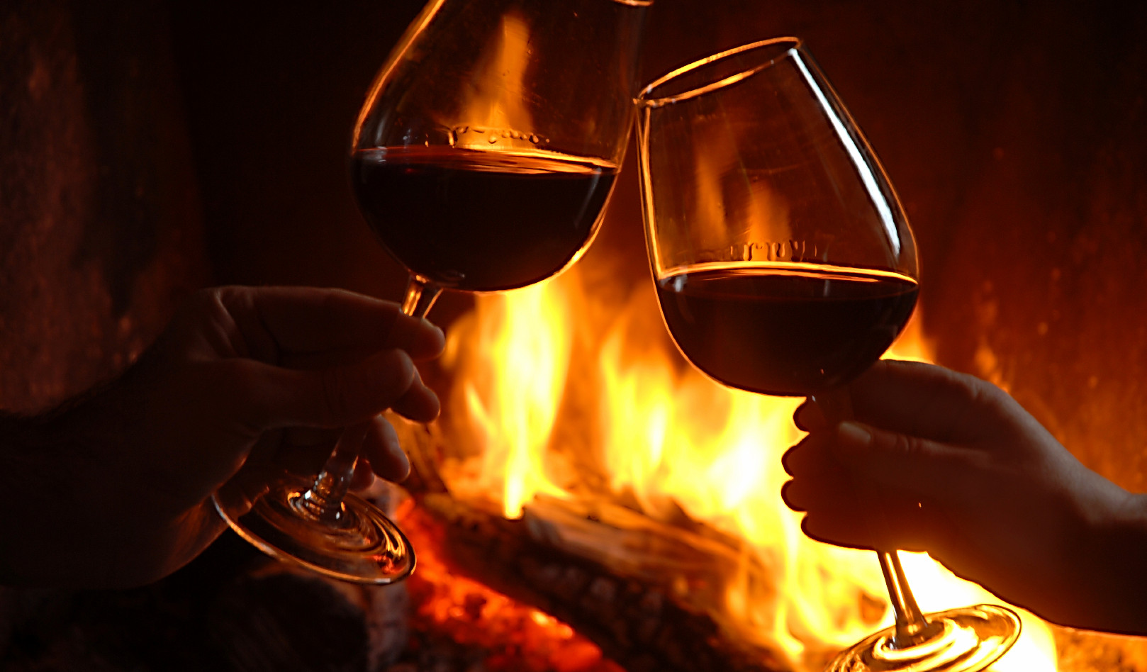 Local Wine by the fireplace!