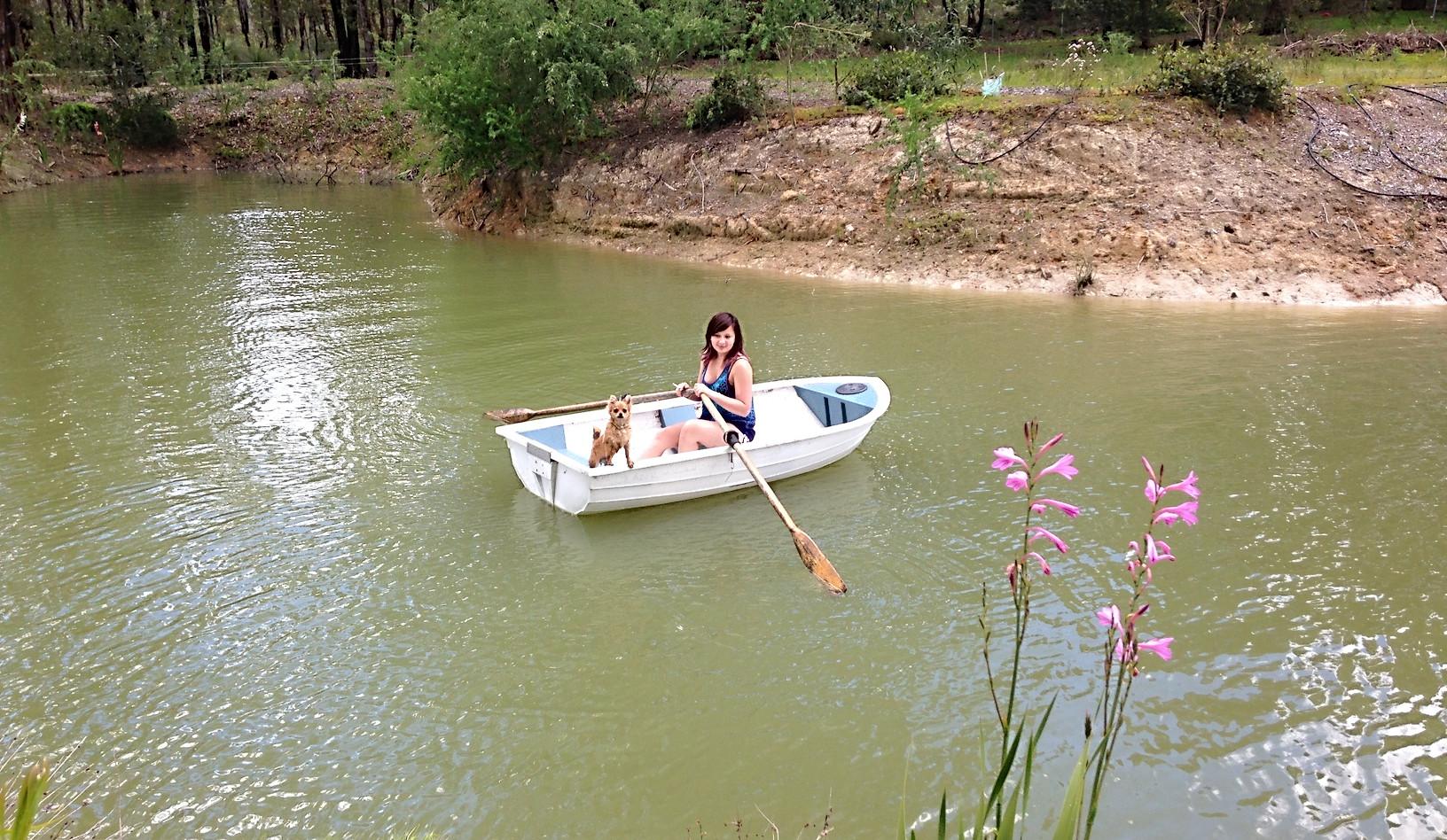 Row boat available - seasonal