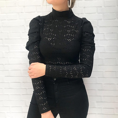 Puff lace top