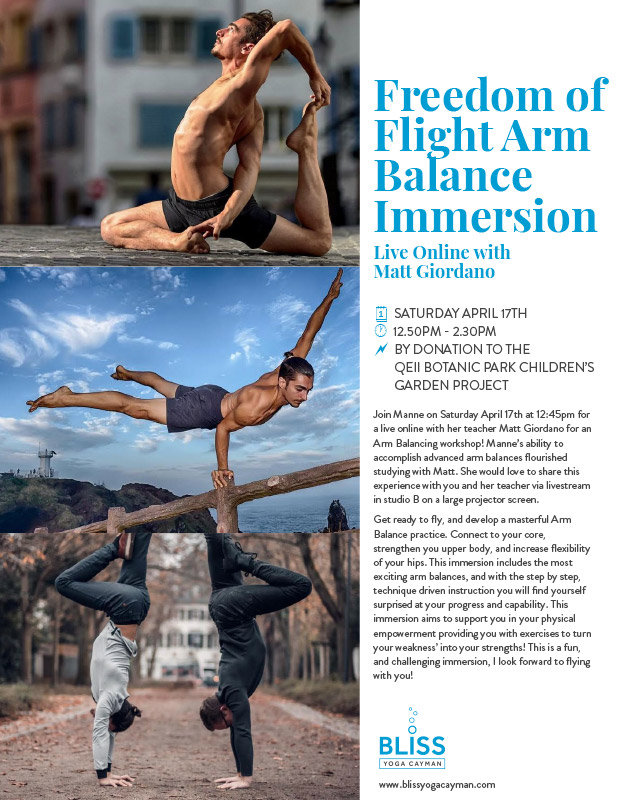 Freedom of Flight Arm Balance Immersion Live Online with Matt Girodano