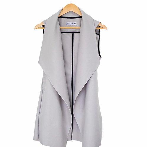 Gray trench vest