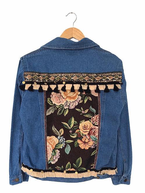 Denim floral jacket (Oversize)BOTÁNICA