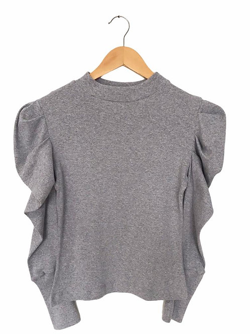 Puff gray top