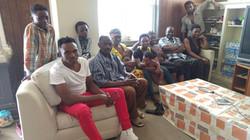 Newly resettled family