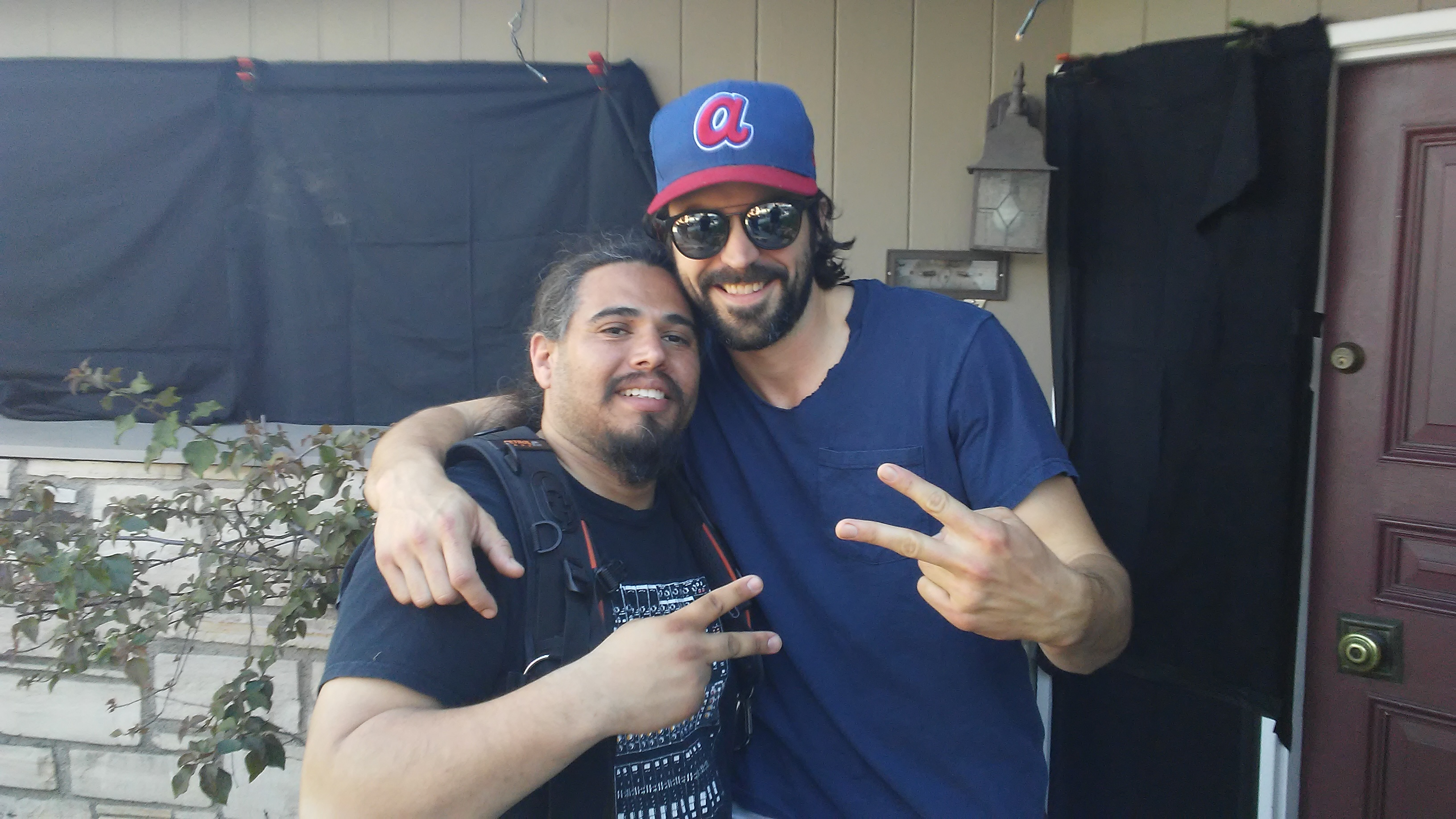 Rhys Coiro (Entourage) and I working on set_