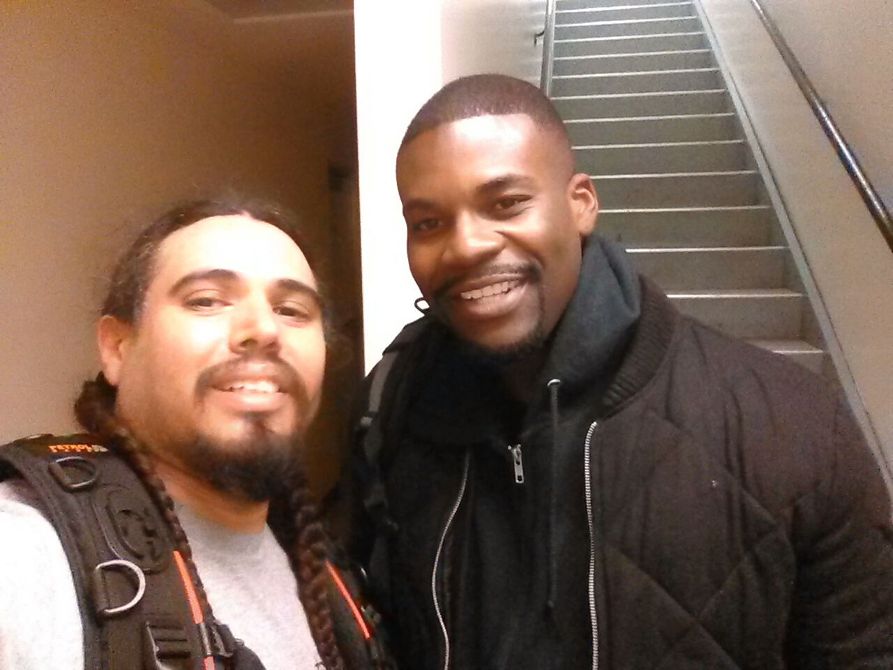 Amin Joseph (Dope) and I on set.