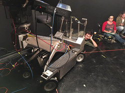 Dedicated Dolly Grip Brian Hayes do what it takes for the shot