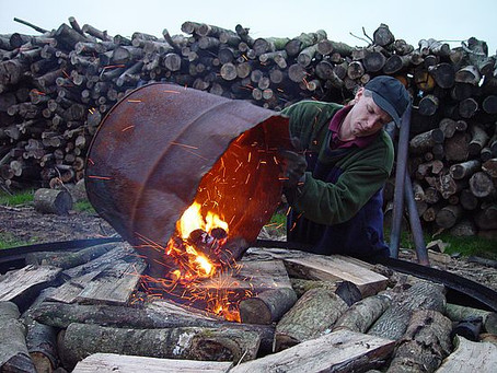 The Charcoal Burning Process.