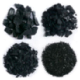 Various grades of charcoal fines