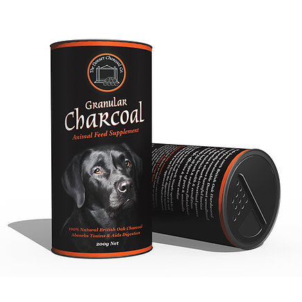 Granular Charcoal Pet Feed Supplement Shaker Pot 200g