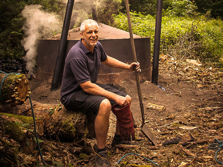 Living treasures of Dorset – Jim Bettle, Charcoal burner.