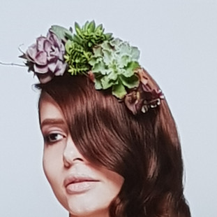 Succulent hair piece - Carol Joy London