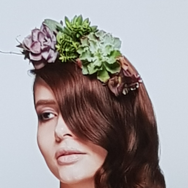 Succulent hair piece - Carol Joy London
