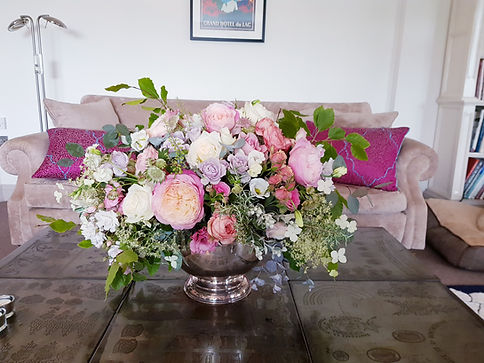 Rose and Peony punchbowl