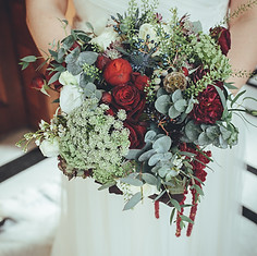 Chandelle's bridal bouquet