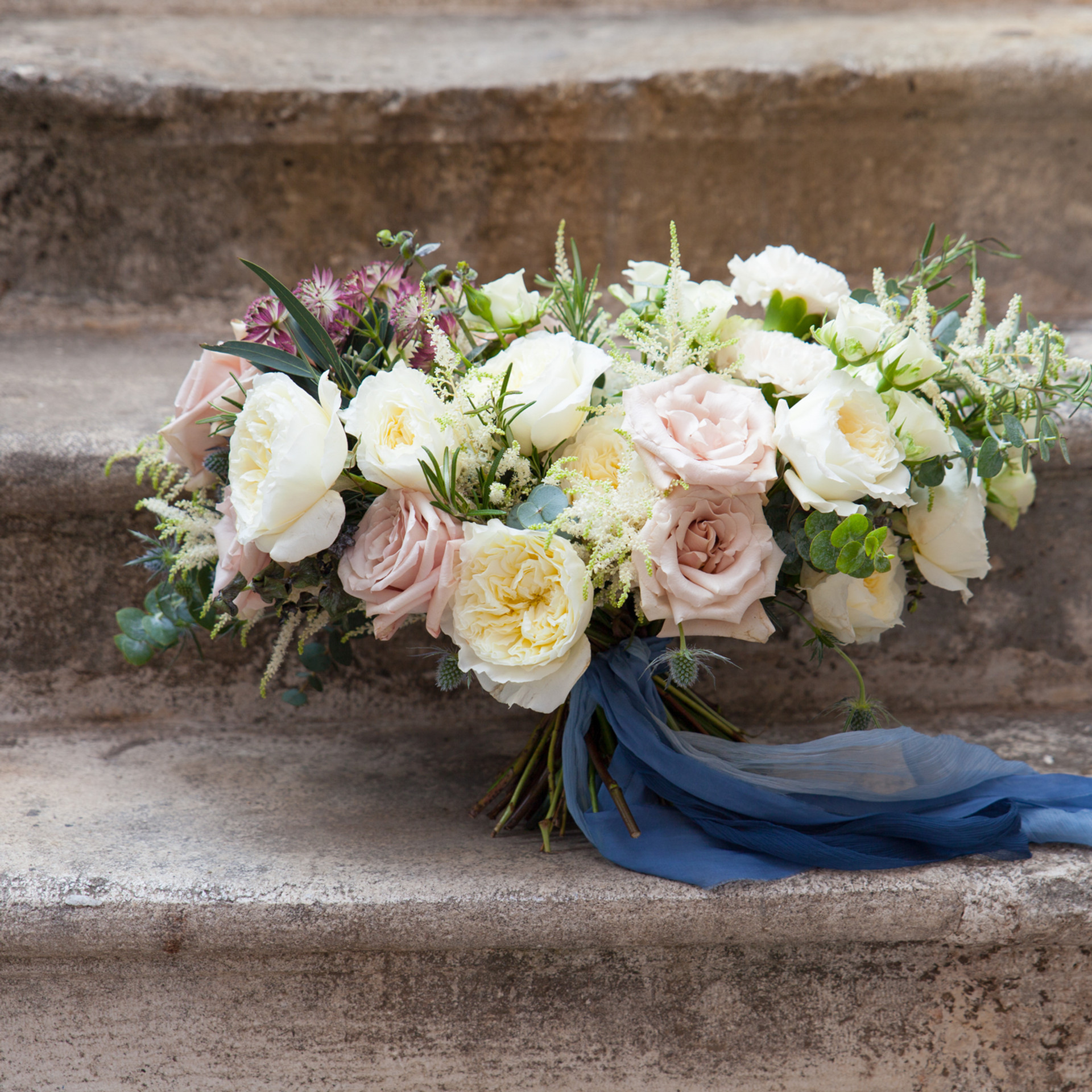 wedding bouquet with David Austin roses.