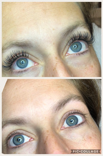 Before & after - wimperextensions