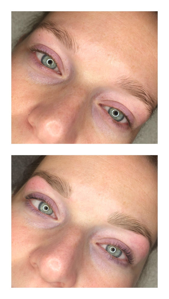 Before & after - lash lift