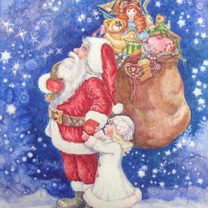 Рождественская открытка(найди мышку))
