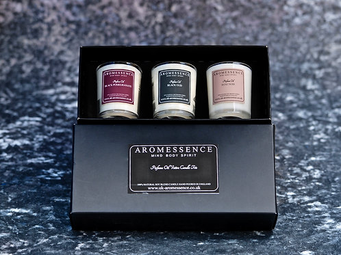 Votive Candle Trio - Noir Collection
