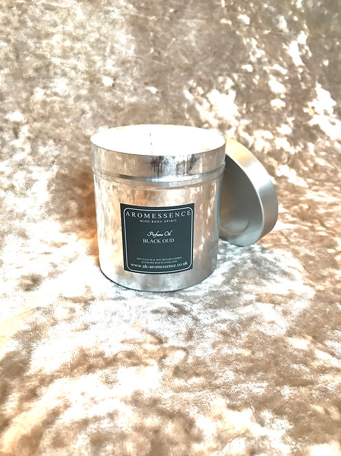 Black Oud  - Candle in Tin