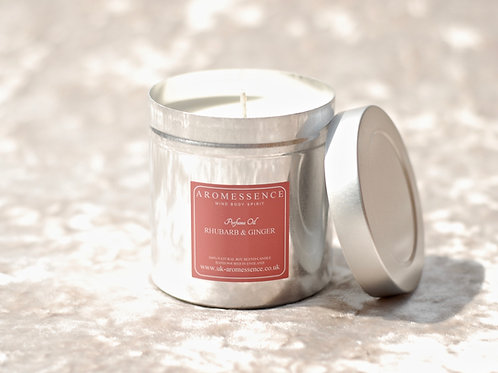 Rhubarb & Ginger - Candle in Tin
