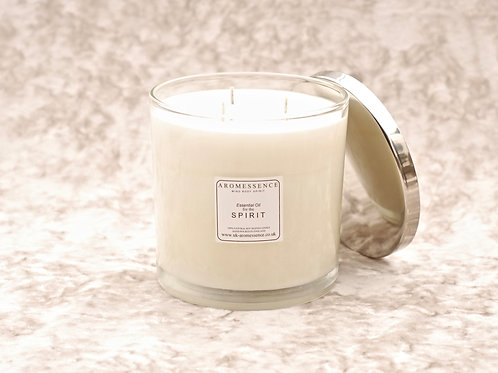 S P I R I T - Signature Collection 3 Wick Glass Candle