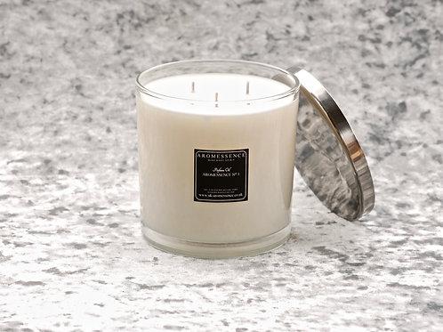 Aromessence No 1 - 3 Wick Glass Candle