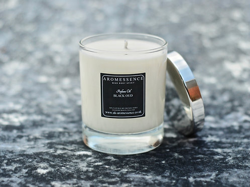 Black Oud  - Glass Candle