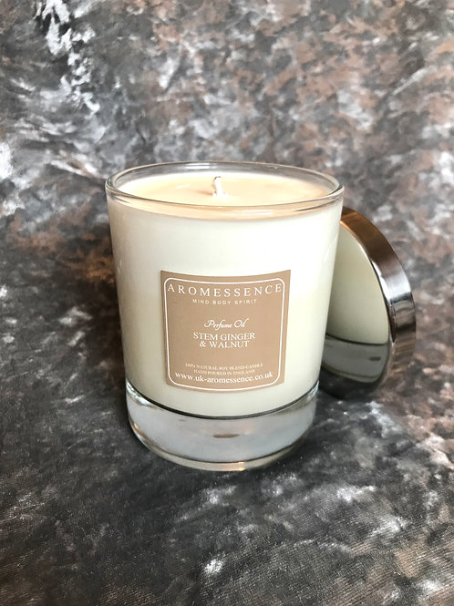 Stem Ginger & Walnut Glass Candle