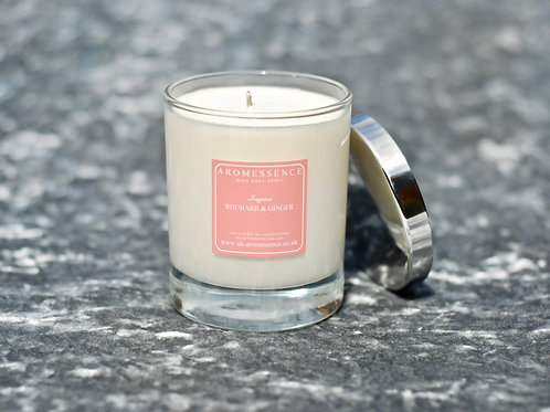 Rhubarb & Ginger Glass Candle