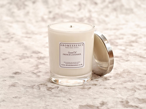 French Lavender Massage Glass Candle