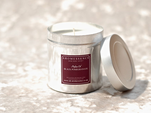 Black Pomegranate - Candle in Tin