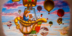 Cootie Brown & Gang in Hot Air Balloon