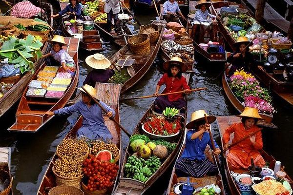 Thailandia Bangkok mercato galleggiante Damnoen Saduak
