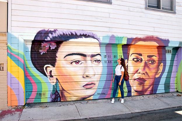 California San Francisco Mission murales Infinita Ternura