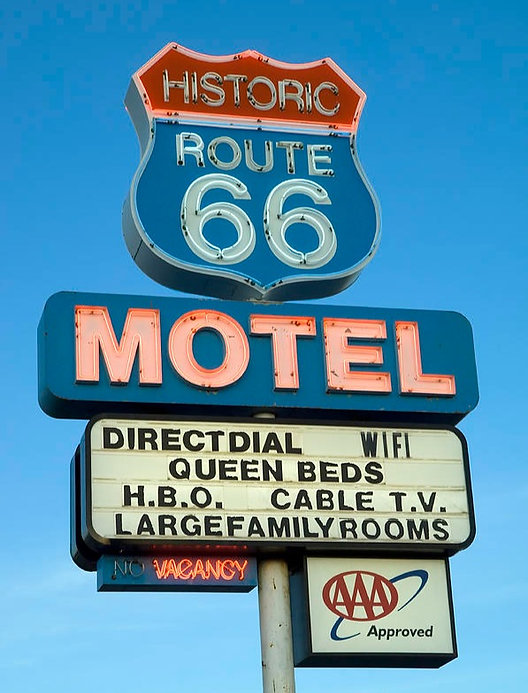 California on the road Route 66 Motel