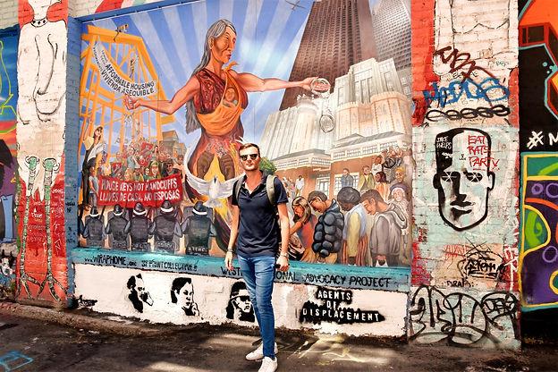 California San Francisco Mission murales