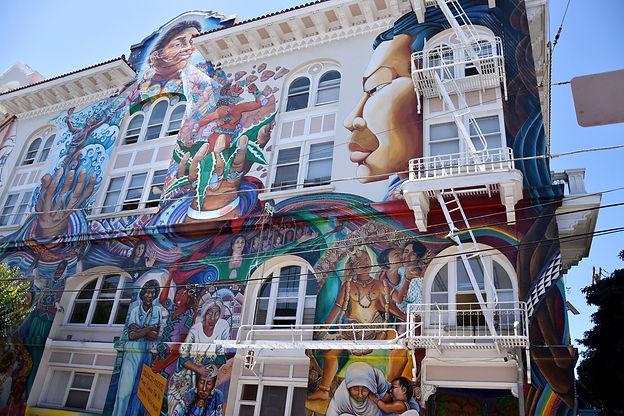 California San Francisco Mission murales Maestra Peace