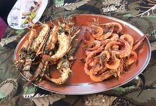 Kenya Safari Blu grigliata pesce