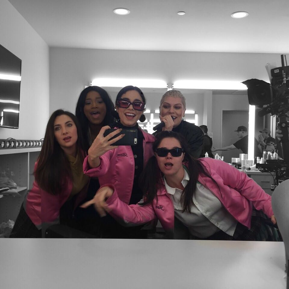 Shot from Grease Live: Keke Palmer, Vanessa Hudgens, Jessie J, Kether Donahue