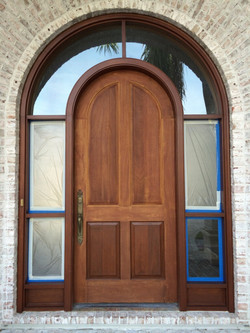 Front Door Stain Finish 2 Painters Naples FL Before