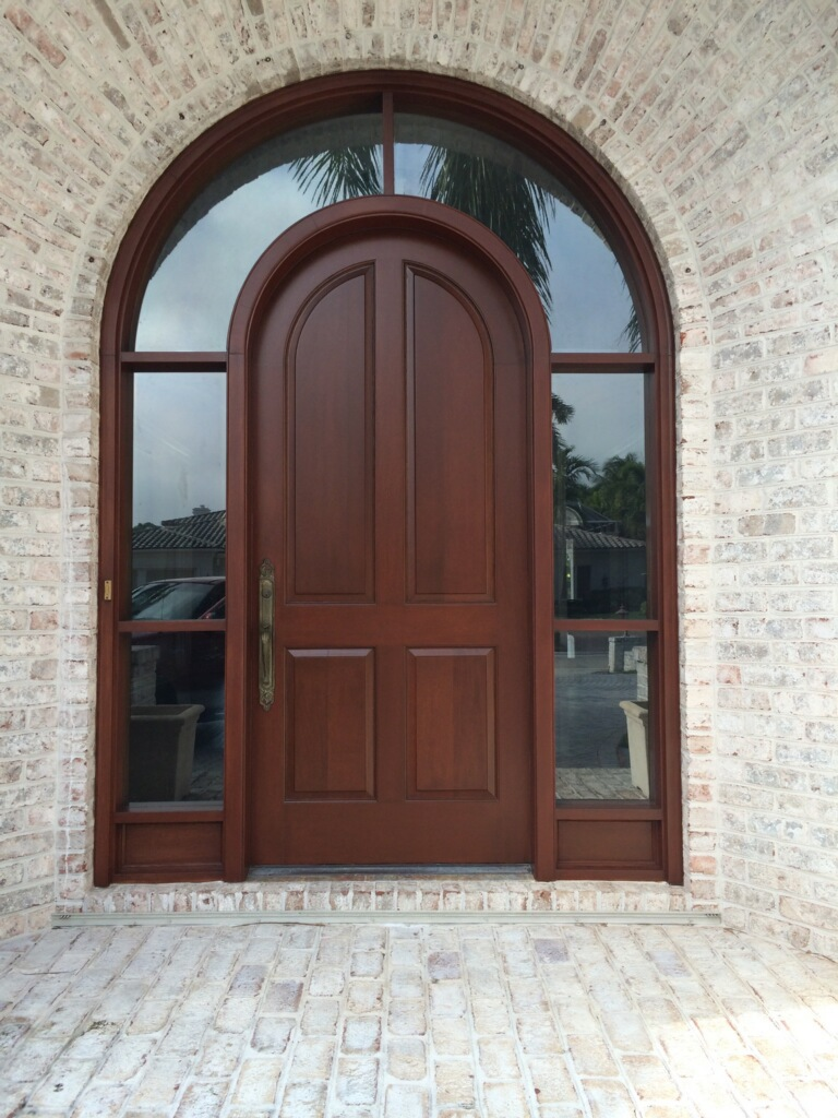 Front Door Stain Finish 2 Painters Naples FL After