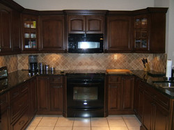 Kitchen Cabinets Stain Finish 2 Painting